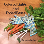 Colored Lights and Faded Roses Image